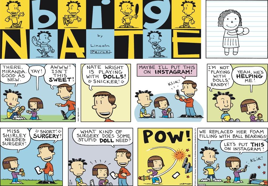 Big Nate Comic Strip for April 25, 2021