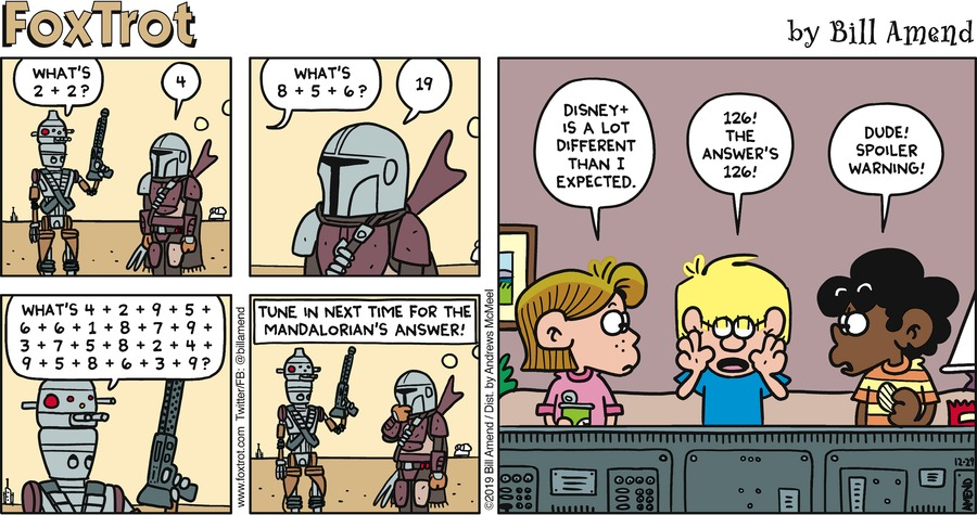 FoxTrot Comic Strip for December 29, 2019