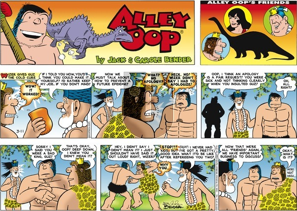 Alley Oop on Sunday March 11, 2018 Comic Strip