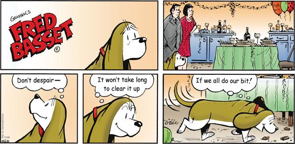 Fred Basset Comic Strip for December 26, 2010