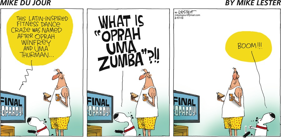 Mike du Jour for Feb 17, 2013 Comic Strip
