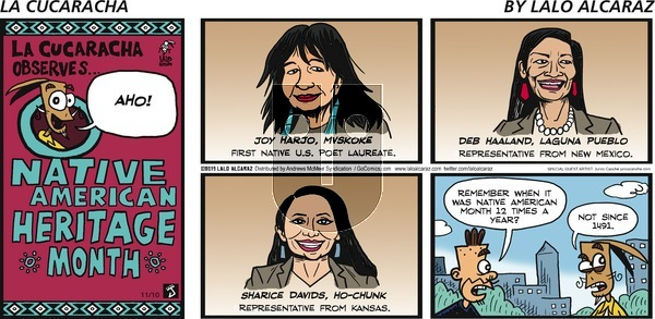 La Cucaracha - Sunday November 10, 2019 Comic Strip