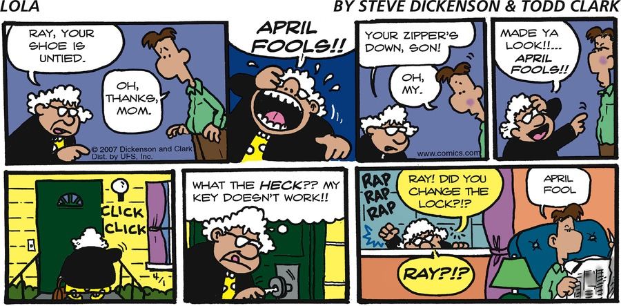 Lola Comic Strip for April 01, 2007