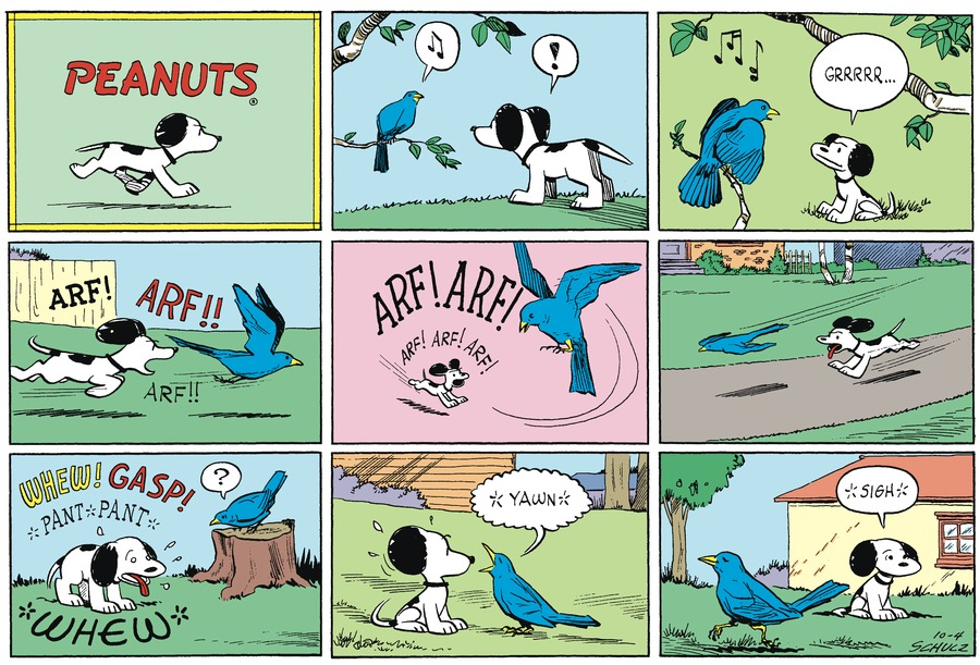 Peanuts Begins Comic Strip for October 04, 1953