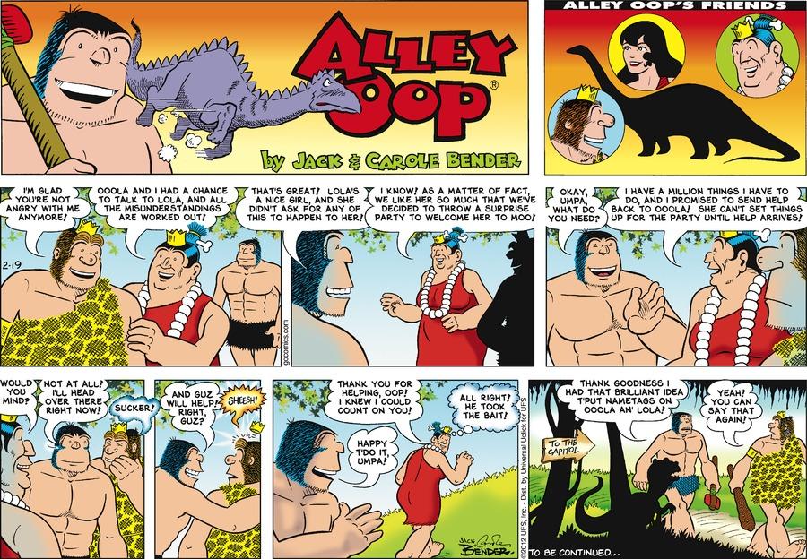 Alley Oop for Feb 19, 2012 Comic Strip