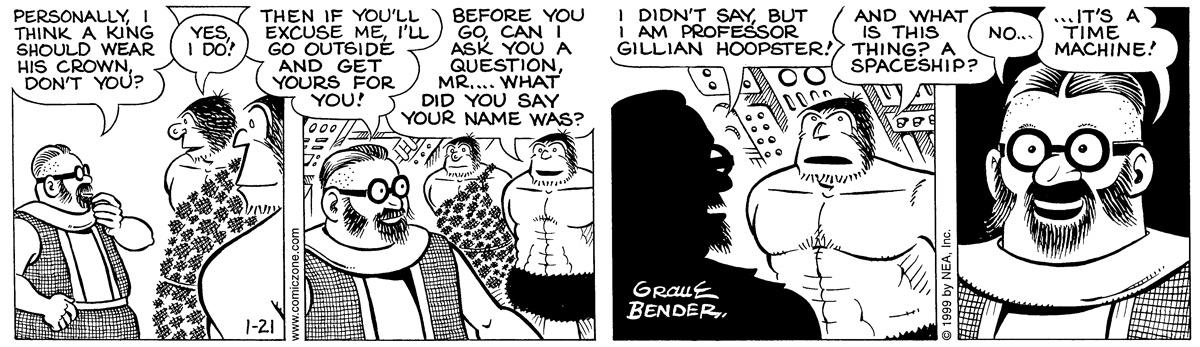 Alley Oop for Jan 21, 1999 Comic Strip