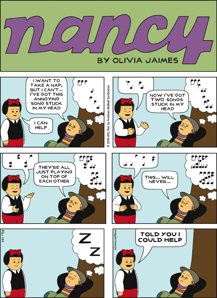 Nancy Comic Strip for August 18, 2019