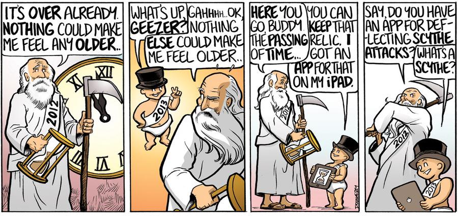 Beardo for Dec 31, 2012 Comic Strip
