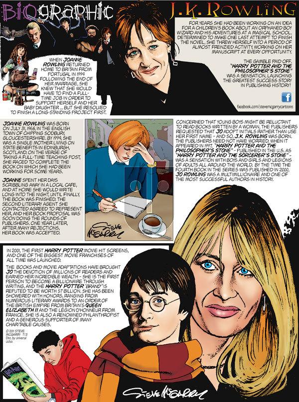 Biographic on Sunday July 3, 2011 Comic Strip