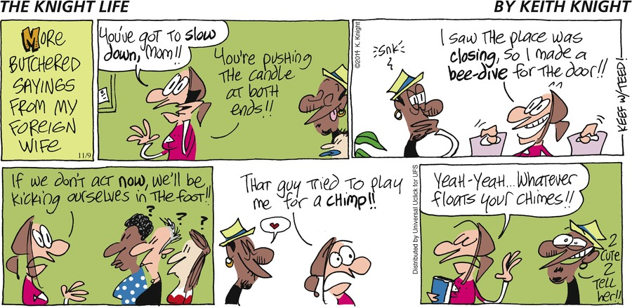 The Knight Life Comic Strip for November 09, 2014
