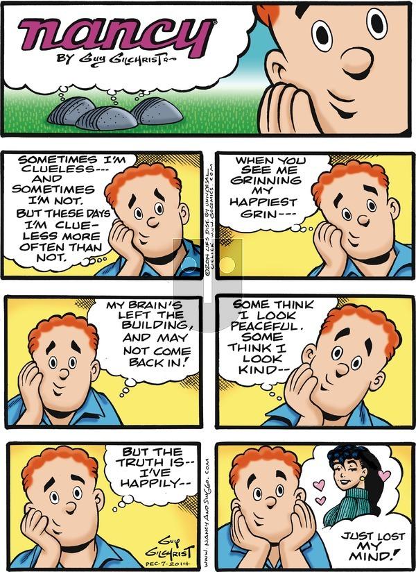 Nancy on Sunday December 7, 2014 Comic Strip
