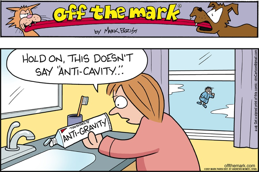 Off the Mark by Mark Parisi on Sun, 28 Feb 2021