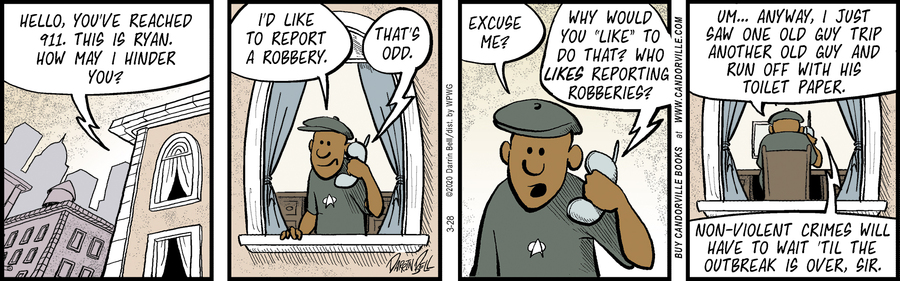 Candorville Comic Strip for March 28, 2020