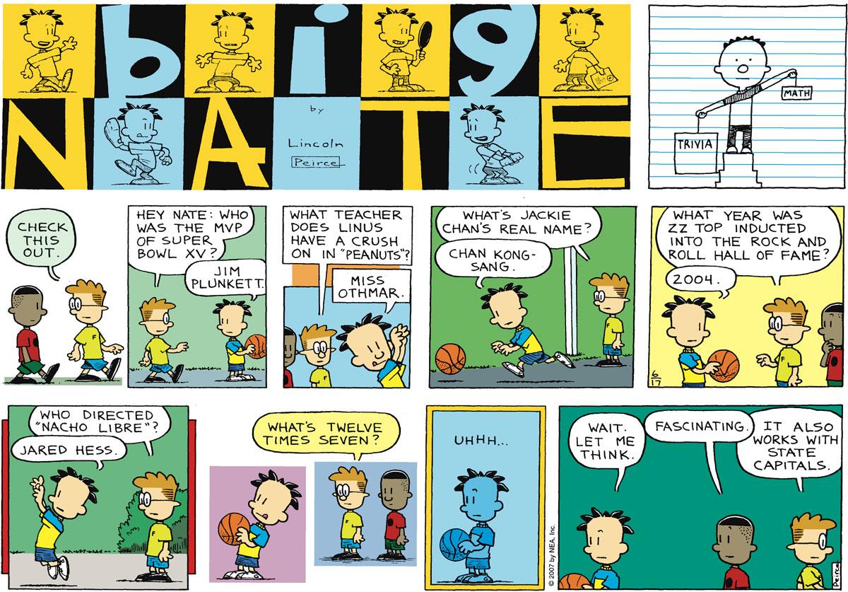 Big Nate Comic Strip for June 17, 2007