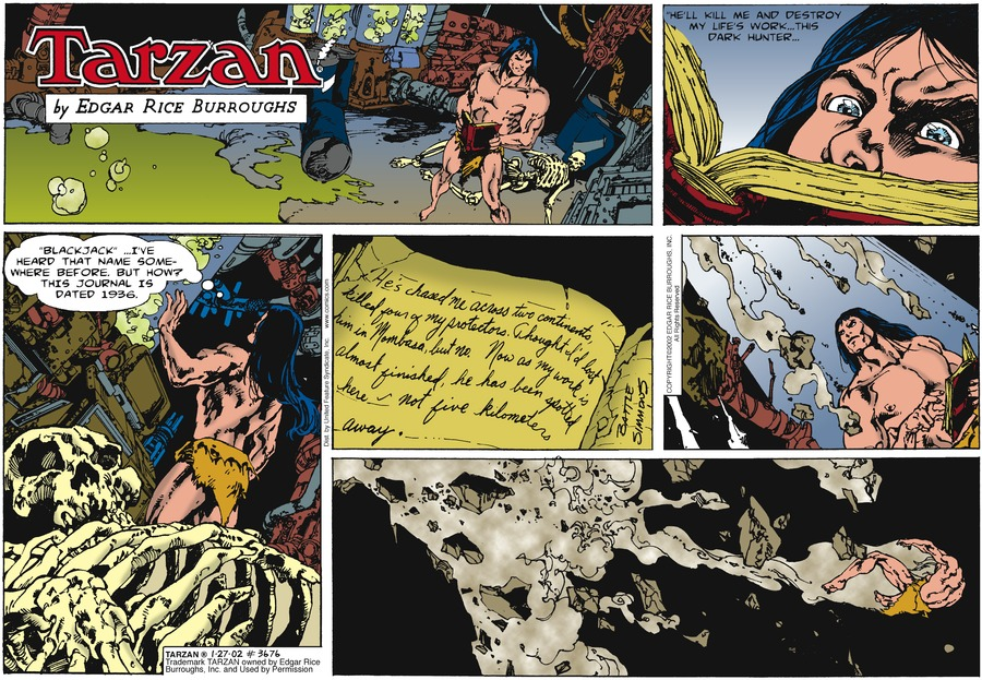 Tarzan Comic Strip for January 27, 2002