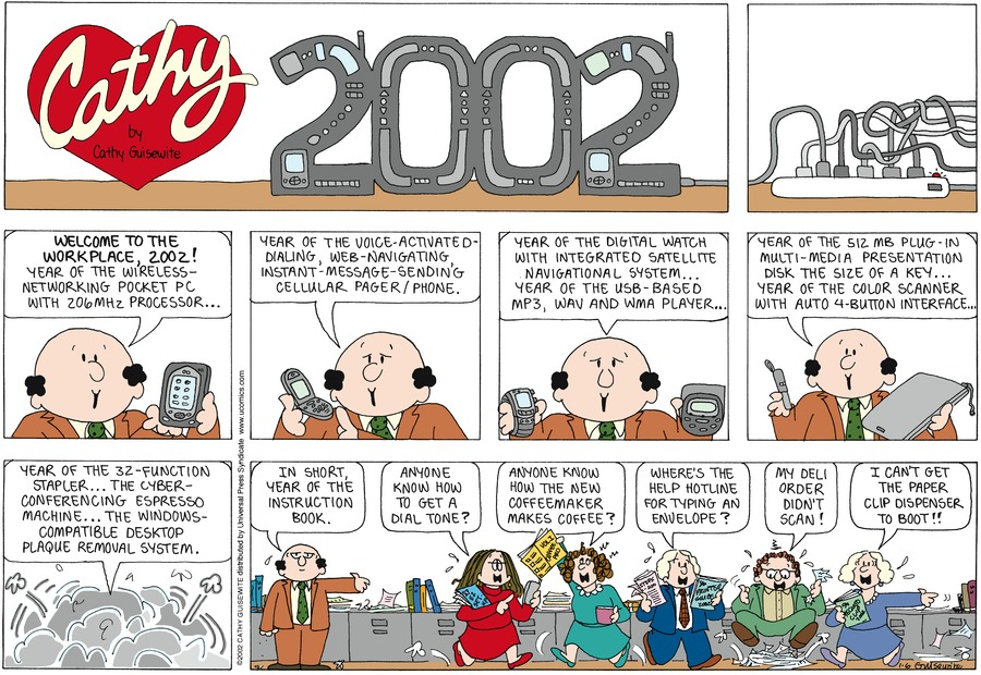 Cathy for Jan 6, 2002 Comic Strip