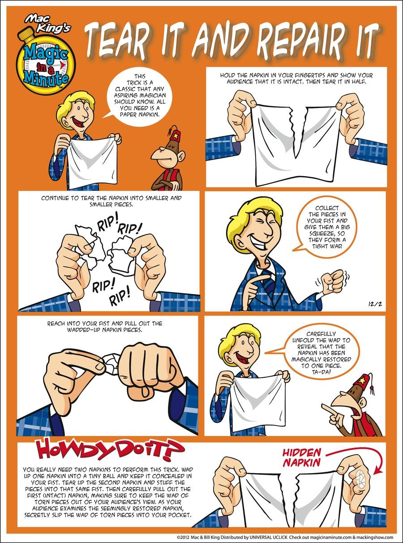 Magic in a Minute for Dec 2, 2012 Comic Strip