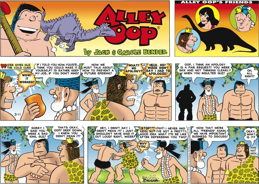Alley Oop for Mar 11, 2018 Comic Strip