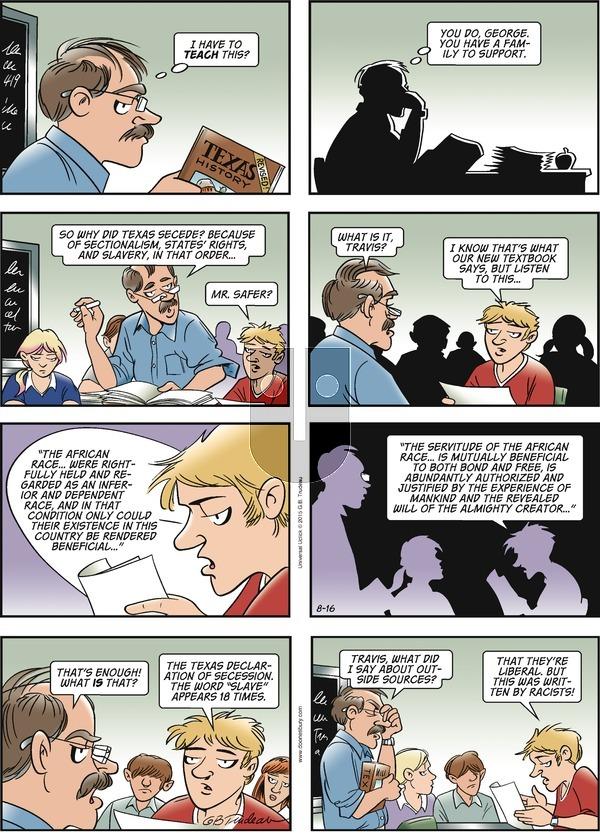 Doonesbury on Sunday August 16, 2015 Comic Strip