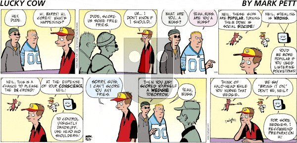 Lucky Cow on Friday April 30, 2021 Comic Strip