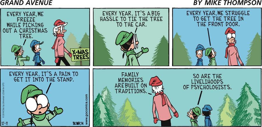 Grand Avenue for Dec 11, 2016 Comic Strip