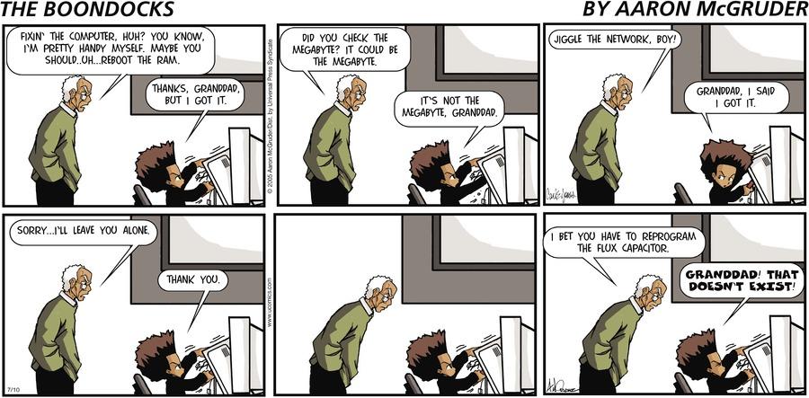 The Boondocks Comic Strip for September 20, 2020