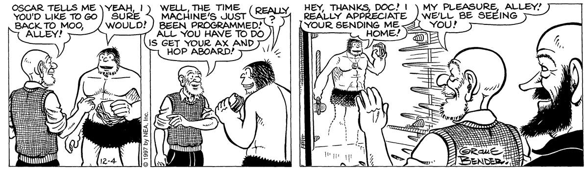 Alley Oop for Dec 4, 1997 Comic Strip