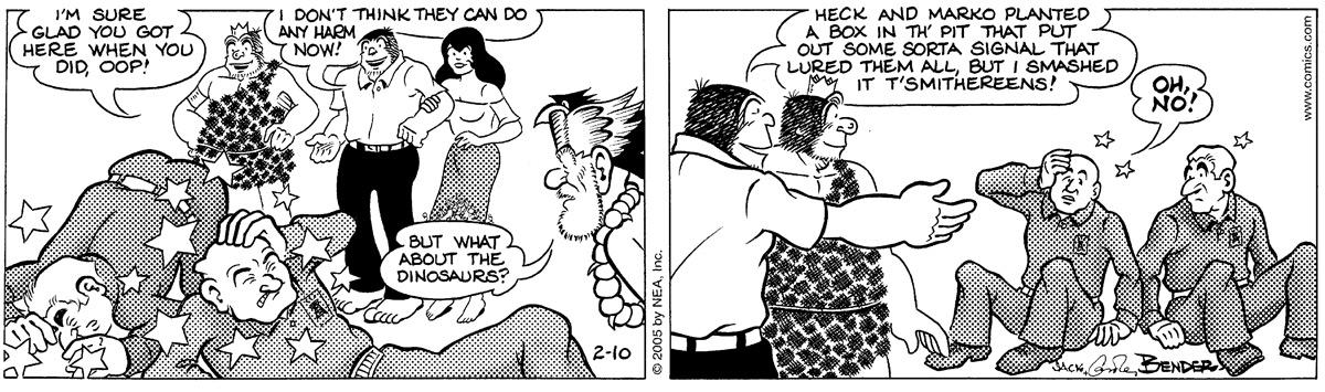 Alley Oop for Feb 10, 2005 Comic Strip