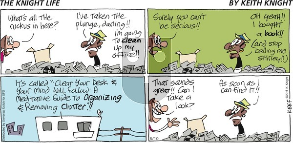 The Knight Life on Sunday August 10, 2014 Comic Strip