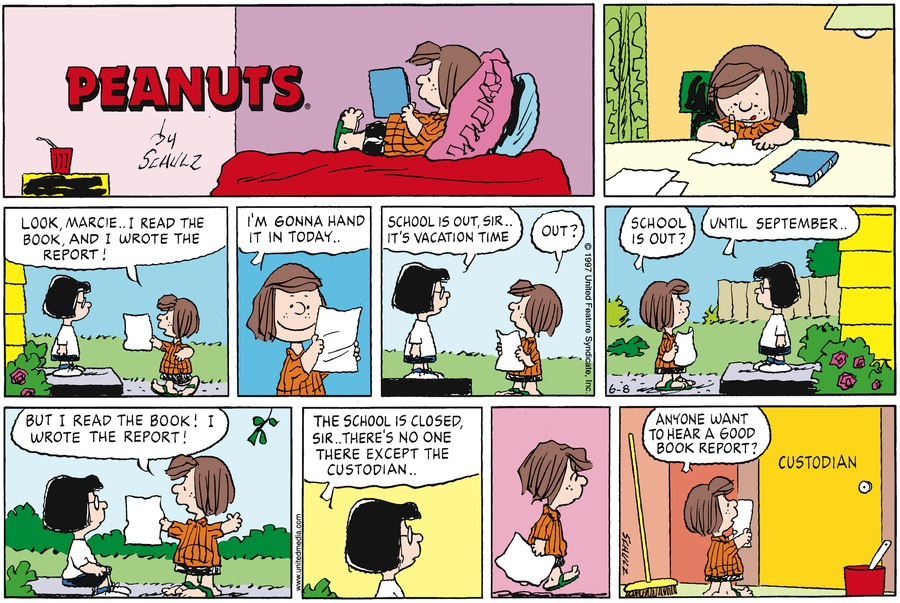 Peanuts Comic Strip for June 08, 1997