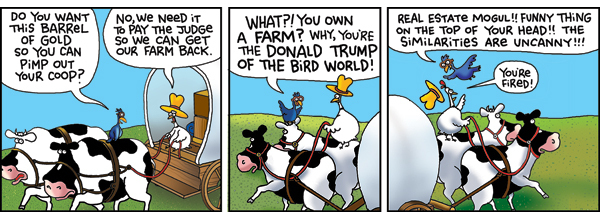 2 Cows and a Chicken for Oct 5, 2015 Comic Strip