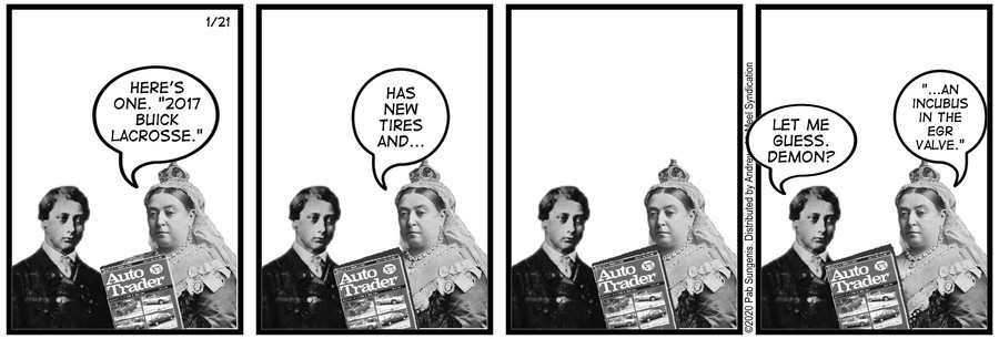 New Adventures of Queen Victoria Comic Strip for January 21, 2020