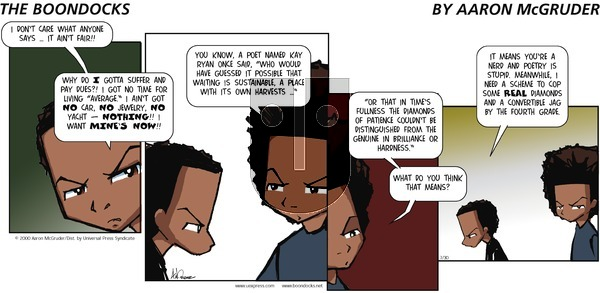 The Boondocks on Sunday July 30, 2000 Comic Strip