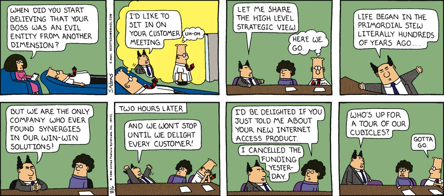 Dilbert Classics by Scott Adams for July 07, 2019