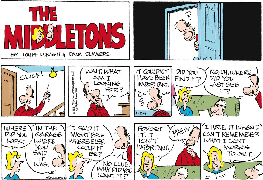 The Middletons Comic Strip for January 24, 2021