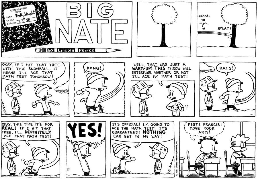 Big Nate Comic Strip for January 17, 1993