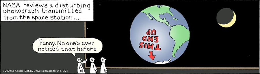 Unstrange Phenomena Comic Strip for September 21, 2020
