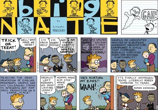 Big Nate on Sunday October 30, 2016 Comic Strip