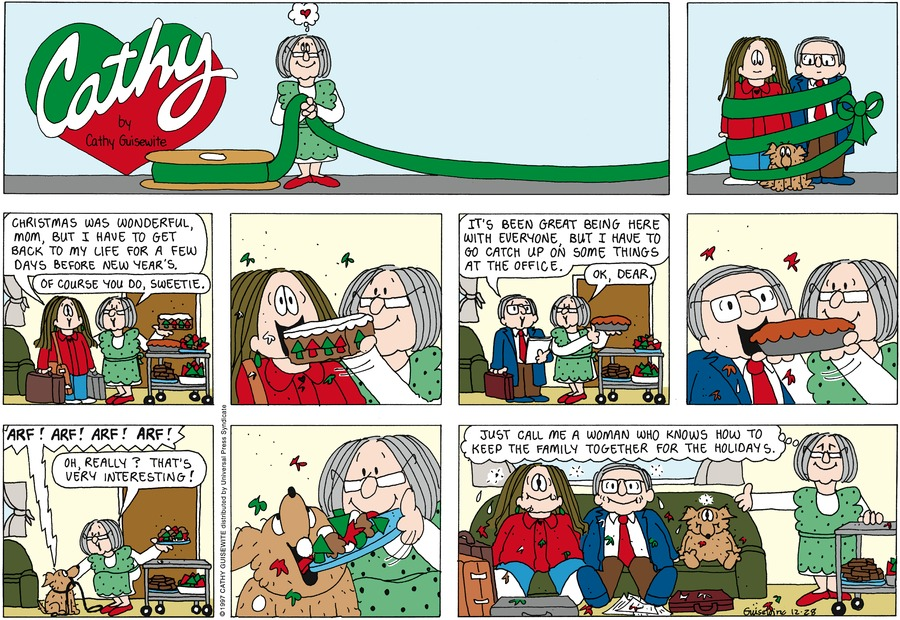 Cathy Classics Comic Strip for December 28, 1997