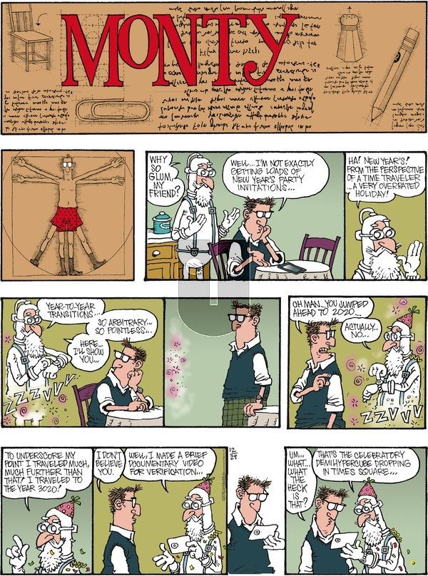Monty - Sunday December 29, 2019 Comic Strip