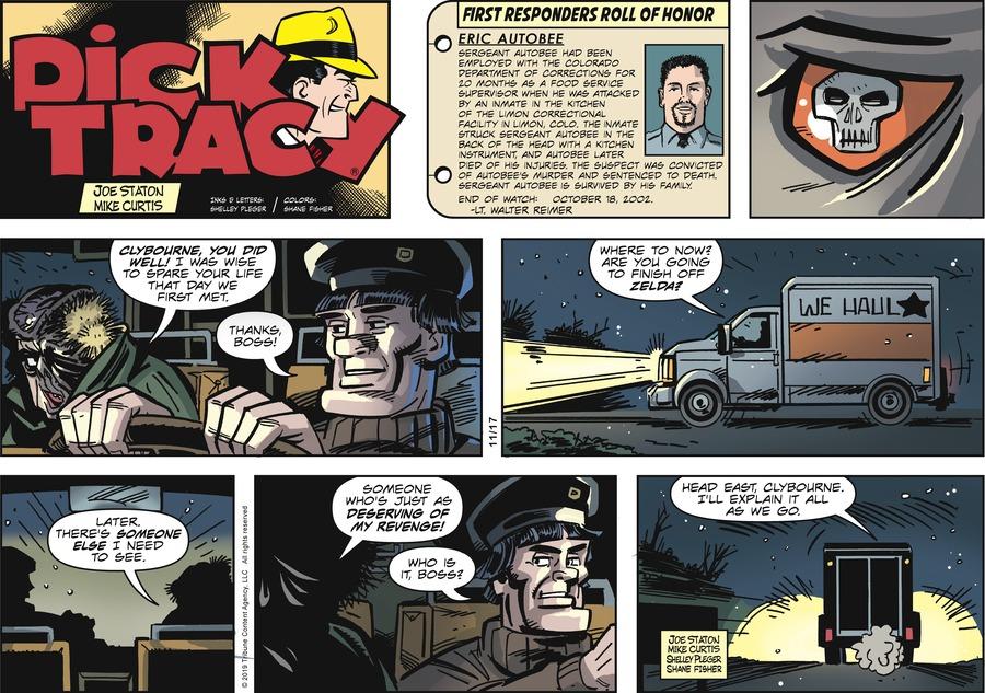 Dick Tracy Comic Strip for November 17, 2019
