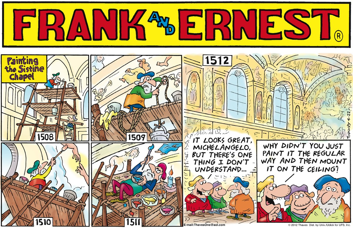 Frank and Ernest Comic Strip for April 22, 2012