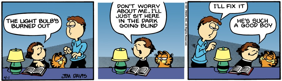 Garfield Classics Comic Strip for April 07, 2019