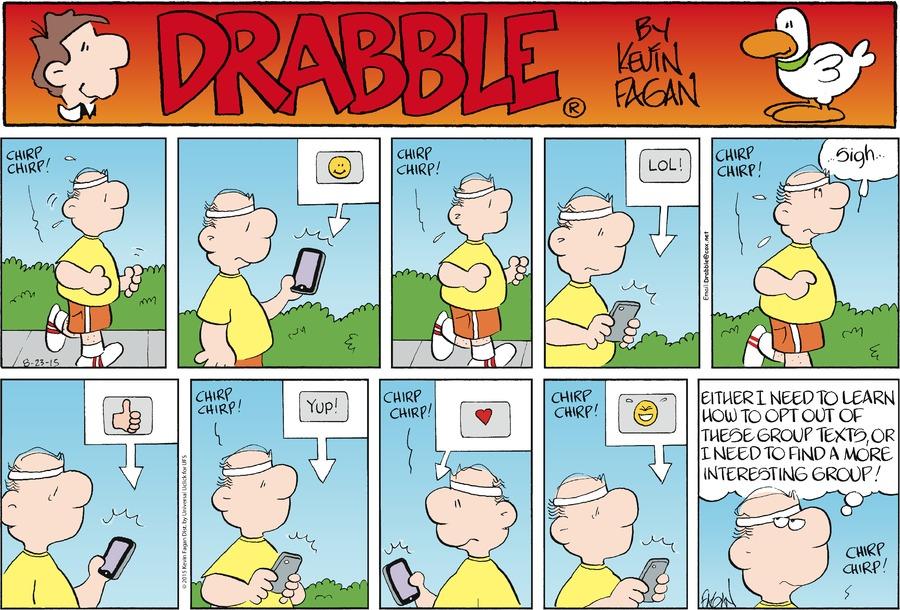 Drabble for Aug 23, 2015 Comic Strip