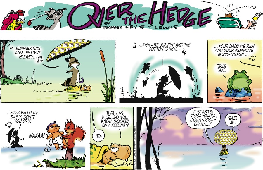Over the Hedge Comic Strip for July 07, 2019