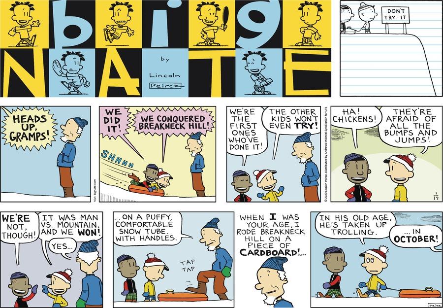 Big Nate by Lincoln Peirce on Sun, 19 Jan 2020