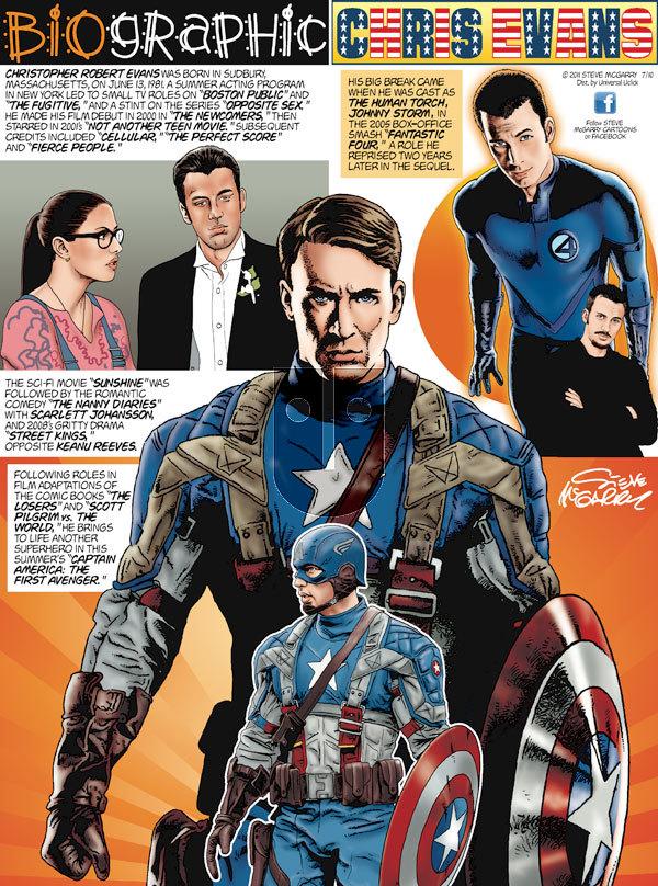 Biographic on Sunday July 10, 2011 Comic Strip