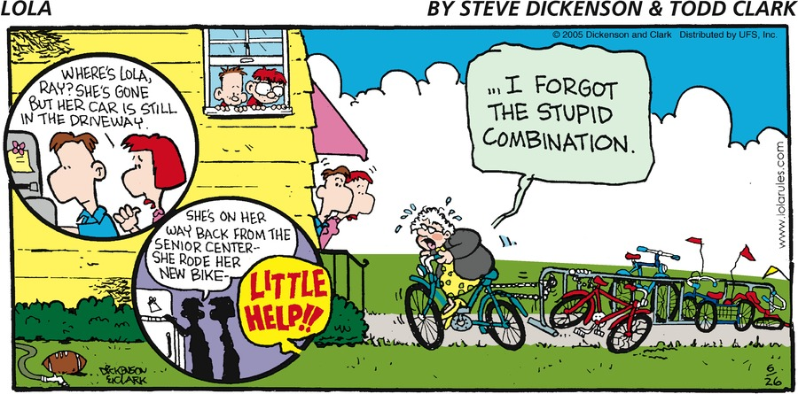 """Where's Lola, Ray? She's gone but her car is still in the driveway.""