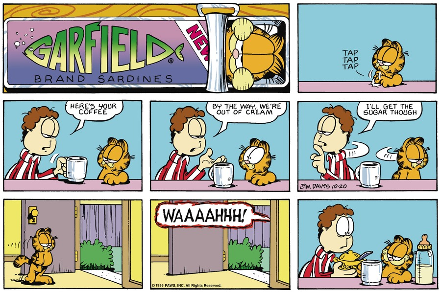 Garfield Comic Strip for October 20, 1996