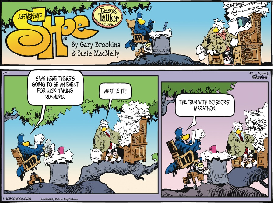 Shoe Comic Strip for February 17, 2019
